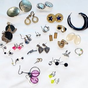 24 Pairs of Earrings, Wearable Jewelry Lot